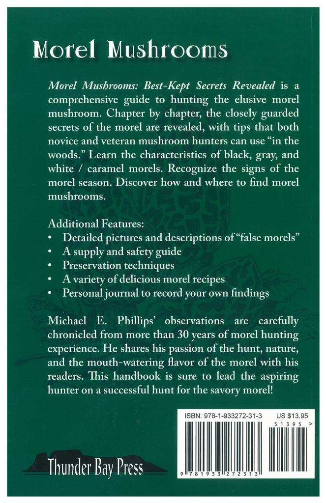 Back cover of a green book.